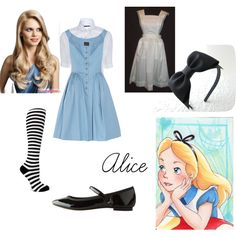Alice in Wonderland, created by harmony51001 on Polyvore