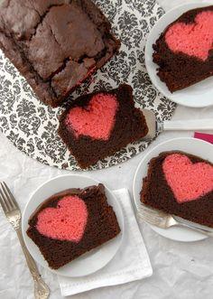 Hidden Heart Valentines Chocolate Cherry Pound Cake heart BoulderLocavore.com