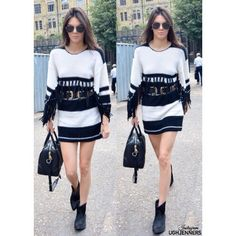 Black n white kendall outfit