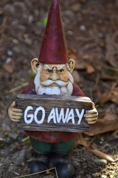 Garden gnome. Reminds me of Doc Martin