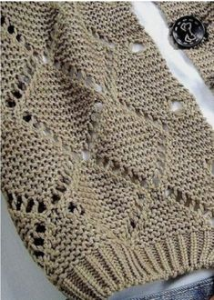 Simple, but at the same time beautiful, pattern made with needles . Discussion on LiveInternet - Russian Service Online Diaries Love Knitting, Knitting Stitches, Baby Knitting, Crochet Woman, Knit Crochet, Knitting Patterns, Crochet Patterns, Kurti Embroidery Design, Crochet Granny Square Afghan