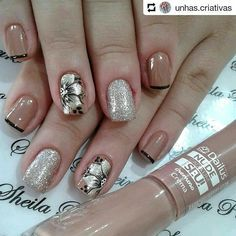 55 popular ideas of christmas nails designs to try in 2020 page 28 Crazy Nails, Fancy Nails, Pretty Nails, Christmas Nail Designs, Christmas Nails, Fabulous Nails, Perfect Nails, Nagel Stamping, Flower Nails