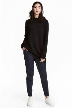 Spodnie bez zapięcia - Ciemnoniebieski - ONA | H&M PL 1