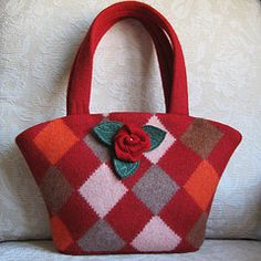 Resweater: Recycled wool purse week, Felt Sew Good