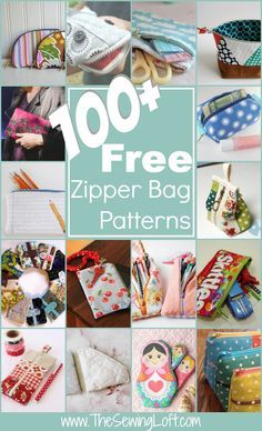 100+ Free Zipper Bag Patterns Rounded Up in one place. All patterns are free with step by step instructions. The Sewing Loft