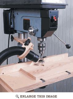 In the never-ending battle with lung-damaging dust, you can't have too many weapons. Add this handy rig to your drill press and you'll not only breathe easier, but you'll also speed shop clean-up. Featured in the December 1999 issue of WOOD.