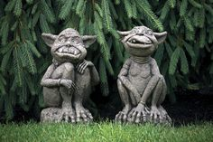 garden statues and fountains | Lawn Ornament Concrete Statue - Orson Ogre - Concrete Statue ...
