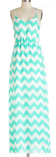 #mint chevron maxi dress  http://rstyle.me/n/jqrgvpdpe