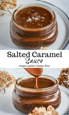 Miss the taste of caramel while following a dairy-free, vegan or paleo lifestyle? Well, this simple 4 ingredient salted caramel sauce, has got covered. #saltedcaramel #vegansaltedcaramelsauce #vegancaramelsauce #caramel #vegancaramel #paleocaramelsauce #paleocaramel #paleosaltedcaramelsauce #paleodesserts