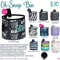 Oh-Snap Bin by Thirty-One. Fall/Winter 2016. Click to order. Join my VIP Facebook Page at https://www.facebook.com/groups/1603655576518592/