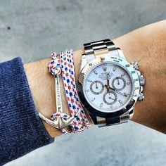 #Rolex #Daytona & @WatchBandits Anchor Bracelet   #WRISTPORN by @lifeofawis   www.wristporn.net