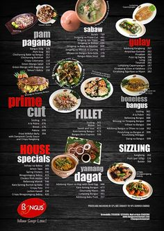 Bangus Restaurant - Filipino Food Menu Filipino Food Menu, Filipino Recipes, Sm Mall Of Asia, Sinigang, Menu Restaurant, Grill Pan, Microsoft, Grilling, Pork