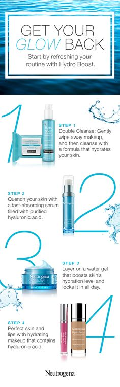 Why just moisturize when you can instantly quench your skin's thirst during every step of your routine? Our Hydro Boost collection works together to hydrate your skin with the power of hyaluronic acid. Start with our Hydrating Makeup Cleansing Towelettes and Cleansing Gel. Next, smooth on our Hydrating Serum and Water Gel moisturizing cream. (BTW, it doubles as primer.) For a natural makeup look, perfect with our Hydrating Tint and Hydrating Lip Shine. What's that in the mirror? Oh, hello…