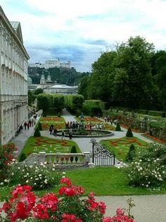 Mirabell Gardens, Salzburg, Austria. Another classical European garden in the vein of Versailles and the Tuilleries. Mirabell Palace with its beautiful gardens is a listed cultural heritage monument and part of the Historic Centre of the City of Salzburg UNESCO World Heritage Site. The Palace was built by Prince-Archbishop Wolf Dietrich von Raitenau in 1606.