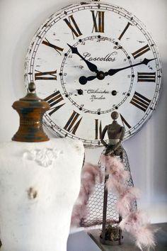32 inch rustic wall clock large wall clock distressed clock