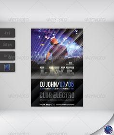 Elegant dark party flyer template