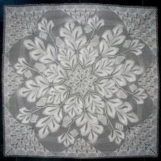 """Tannenzapfen (""""Fir Cone"""") lace doily knitting pattern by Herbert Niebling) — $12.00 USD 