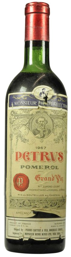 Pétrus 1967  l Christie's Signature Cellars - Online Wine Auction New York Going on NOW- 18 February - 27 February...CLICK TO BID!