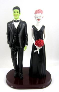 Rockabilly Wedding cake topper ... How to organise your reception ... https://itunes.apple.com/us/app/the-gold-wedding-planner/id498112599?ls=1=8  The Gold Wedding Planner iPhone App ...