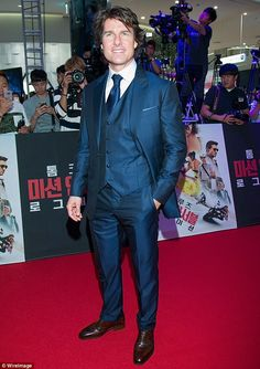 Big money: The Mission: Impossible star, pictured in Seoul in July, is estimated to be wor...