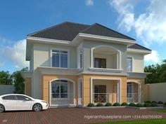 4 bedroom duplex (Ref - NigerianHousePlans beautiful houses in nigeria - House Beautiful Four Bedroom House Plans, Duplex House Plans, New House Plans, Modern House Plans, Modern Houses Pictures, House Design Pictures, Classic House Design, Modern House Design, Style At Home
