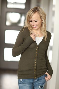 Snap Button Cardigans – Ivory Gem