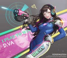 Overwatch - D.VA , Bo Yeon Won on ArtStation at https://www.artstation.com/artwork/v9k0d
