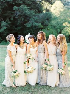 One of our 8 favorite wedding Pinterest accounts, @IBTblogng mismatched dresses