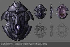 Ebony shield  (Dunmer noble)