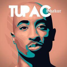 god of rap Tupac Shakur, 2pac Makaveli, Tupac Wallpaper, Tupac Art, Chopped And Screwed, Hip Hop Art, Music Promotion, Painting For Kids, Artist Art