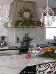 Pam from Simple Details still loves her Formica 180fx Calacatta Marble countertops from the One Room Challenge  Holiday Open House-Pam from Simple Details   11 Magnolia Lane