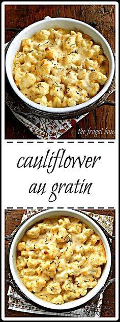 Cauliflower Au Gratin