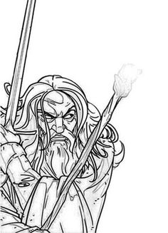 The Lord Of Rings Character Gandalf Coloring Page