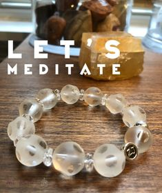 Are you seeking clarity & connection to spirit during meditation? Our whimsical Clear Quartz etched polka dot bracelet is for you! Excellent for connecting with Spirit and helping with meditation. Quartz | meditation | healing bracelet |meditation stones | zen jewelz | zenjen | njartisans