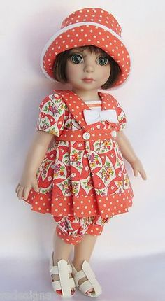 """Ooak patsy at the seashore! for 10"""" ann estelle, etc. made by ssdesigns"""