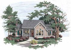 Eplans Cottage House Plan - Open and Inviting - 2053 Square Feet and 3 Bedrooms from Eplans - House Plan Code HWEPL05323