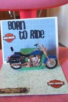 cricut motorcycle card | Carla's Cards: Pop Up Father's Day Motorcycle Card