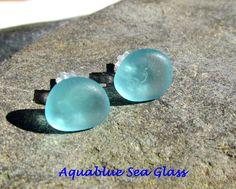 Sea Glass Earrings  Genuine Seaglass  And by aquablueseaglass, $15.99