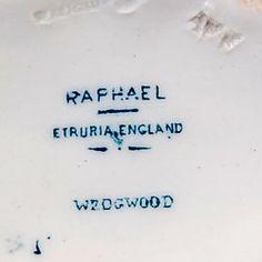 Antique Wedgwood Etruria Raphael pattern china mark circa 1885