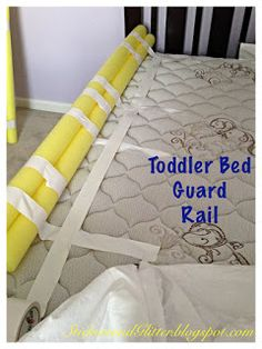 Stickers & Glitter: DIY Toddler Bed Rails