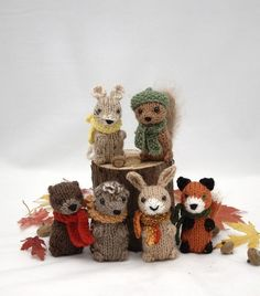 adorable knitted woodland critters (pattern) for ornament