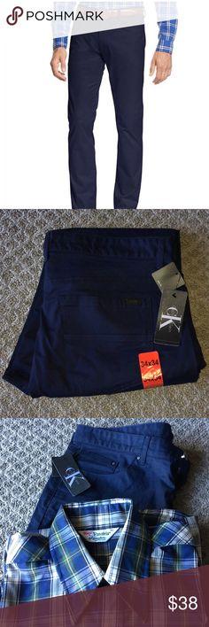 7dcd54fa Calvin Klein Pants Brand New Calvin Klein Men's Slim Fit Pants Available in  Navy, Asphalt