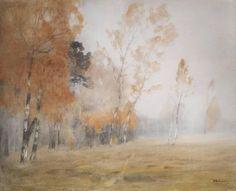 Mist. Automne., 1899 de Isaac Levitan (1860-1900, Lithuania)