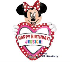 Personalized Minnie Mouse Balloon  Custom by APinkHippoParty