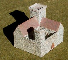 This building paper model is a Medieval Castle, created by Norbtach. It is perfect for Dioramas, RPG and Wargames. You may get this paper model template he Medieval Crafts, Medieval Party, Medieval Castle, Minecraft Medieval, Minecraft Castle, Medieval Houses, Medieval Town, Wooden Castle, Toy Castle