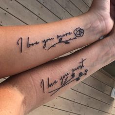 Mom Tattoos Discover 48 Meaningful Mother-Daughter Tattoos To Honor Her Unconditional Love Getting matching ink is a big commitment. But these cute mother-daughter tattoos will make you want to talk your mom into getting inked now. Mother Tattoos, Mom Tattoos, Cute Tattoos, Saying Tattoos, Small Tattoos, Mum And Daughter Tattoo, Tattoos For Daughters, Mom Daughter, Matching Best Friend Tattoos
