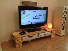 Palettenmöbel Lowboard Ultra TV/HiFi-Bank 'Natur'