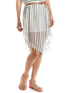 #Charlotte Russe          #Skirt                    #Belted #Vertical #Stripe #Hi-Low #Skirt: #Charlotte #Russe                   Belted Vertical Stripe Hi-Low Skirt: Charlotte Russe                                                    http://www.seapai.com/product.aspx?PID=1089124