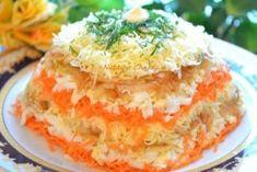 Салат «Нежный» с яблоками, морковью и сыром — девочки оценят!