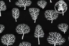 Dres drzewa białe czarny (pętelka)